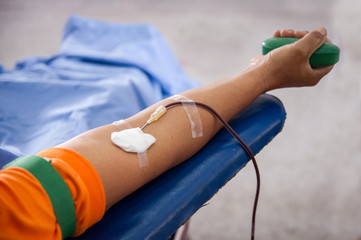 Blood donation.
