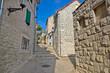 Split old historic stone street