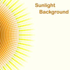 Colorful sunlight background, pentagon sunbeams
