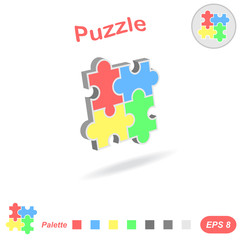 Puzzle logo conception