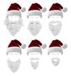 Leinwandbild Motiv Weihnachtsmann Kostüm