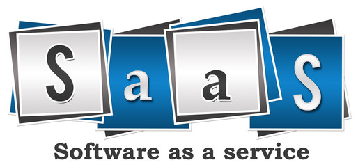 SaaS - Software As A Service Four Blocks