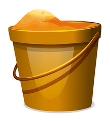 A pail of sand