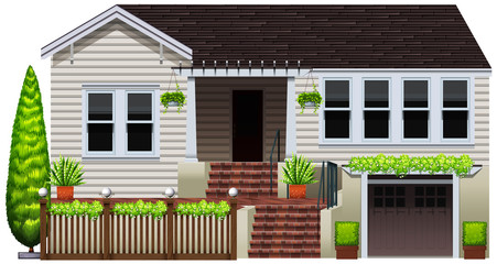 A house with plants