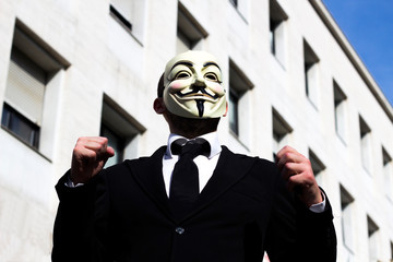 Anonymus business man