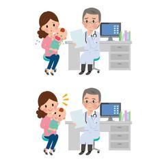 母子 医者 診察