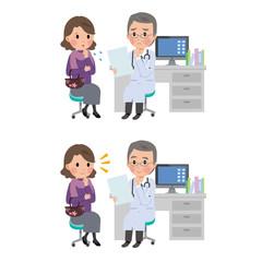 中年女性 医者 診察