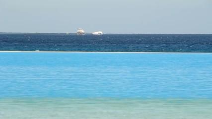 Infinity pool at tropical resort