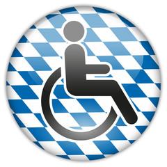 Button Patch WC Behinderte Bayern