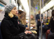 Woman on subway. - 74175175