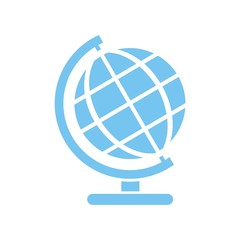 Icono globo terráquo azul
