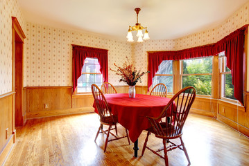 Dining room in old house