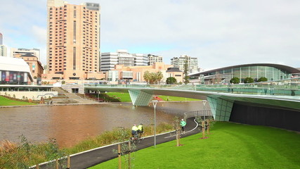 Riverbank precinct in Adelaide, South Australia