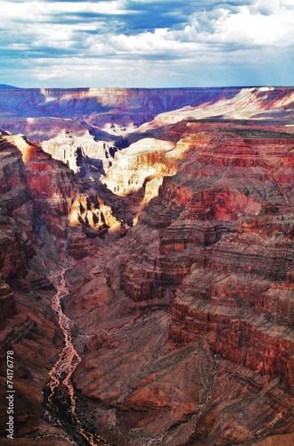 Tuinposter Canyon Hochplateau Grand Canyon - Westrand