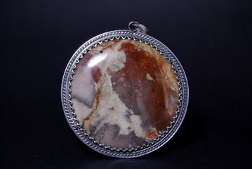 Silver semipreziose ciondolo in filigrana