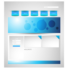 corporate business website template .Vector.Eps.10