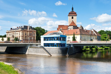 gothic medieval castle Strakonice, South Bohemia, Czech republic