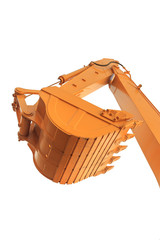 The buckets/shovels of heavy construction machine isolated on th
