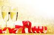 Obrazy na płótnie, fototapety, zdjęcia, fotoobrazy drukowane : Champagne and gift
