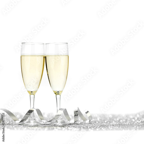 Champagne and bow