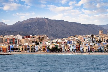 Coastline in Villajoyosa town (Spain)