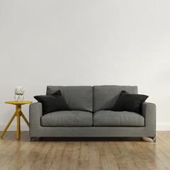 Contemporary grey  sofa