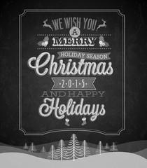 Merry Christmas chalkboard.