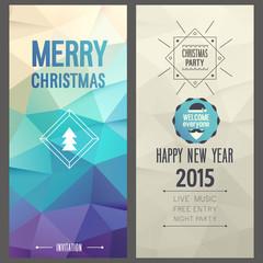 Christmas party invitation. Vector illustration.