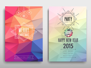 Colorful Merry Christmas flyer. Vector illustration.
