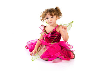 Girl dressed as fairy