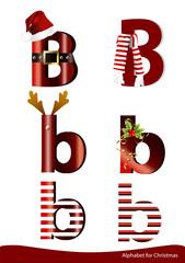 Vector alphabet with christmas ornament