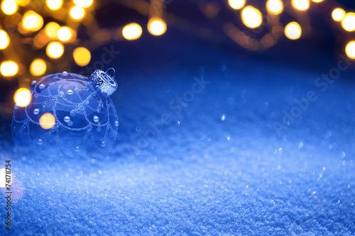 canvas print picture Christmas light background