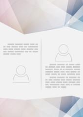 Crystal structure paper modern brochure design