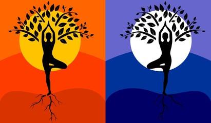 tree pose yoga