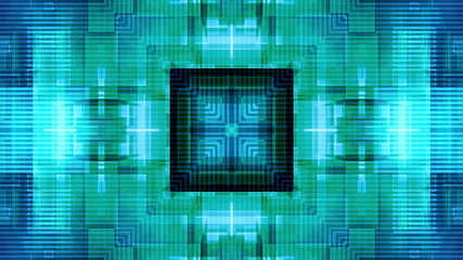 Blue geometric with detail lines VJ looping animated background