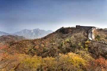CN Great Wall Autumn Trees