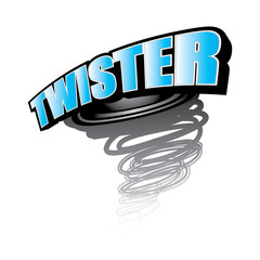 Twister icon vector
