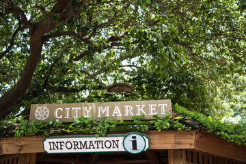 Information Sign in City Market