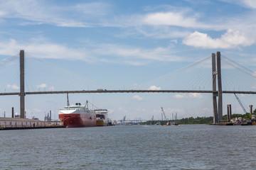 Two Huge Freighters in Savannah Harbor