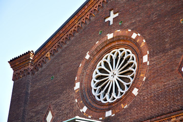 rose window  italy  lombardy     in  the castellanza  old      t