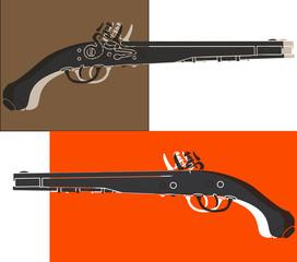 Pistolet de duel pop