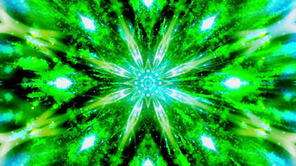 Blue Green Cosmic VJ Looping Animated Background
