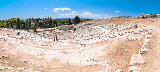 ancient Greek theater of Syracuse, Sicily, Italy