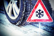 Leinwanddruck Bild - Wintereinbruch