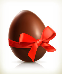 Chocolate easter egg, vector icon