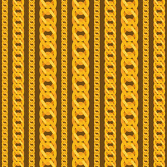 Seamless pattern with beautiful jewelry gold chains.