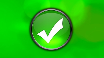 Yes green button with blue and black channel