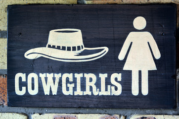 Cowgirls toilet