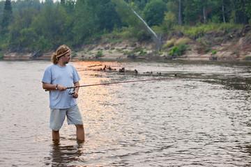 angler on the river