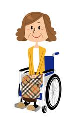 シニア 女性 車椅子
